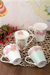 Bone China G�ll� Kupa 4'l� Set